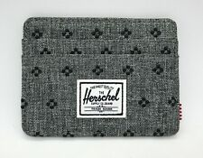 HERSCHEL SUPPLY CHARLIE (GREY RAVEN) CANVAS CARDHOLDER WALLET BRAND NEW w/TAGS!!