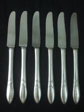 "6 Oneida Community Antique Silver Plate Dinner Knives Flatware Monogram 8.5"""