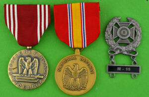 Army Good Conduct Medal, National Defense Medal, Expert M-16