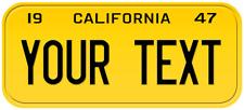1947 California Old Vintage Retro US USA License Plate Number Plate Embossed Alu