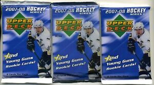 3 SEALED 2007-08 UPPER DECK PACKS POSSIBLE YOUNG GUNS CAREY PRICE KANE BACKSTROM
