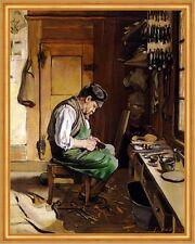Schuster am Fenster LW Schuhmacher Schweiz Handwerker Ferdinand Hodler A2 02