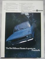 1969 Hillman Hunter Original advert