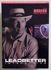 david leadbetter interactive MODERN GOLF SWING   DVD / DVD ROM windows xp vista