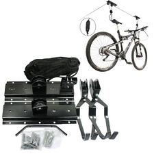 Bike Bicycle Hanger Pulley Rack Hoist Storage Garage Lift Ceiling Mounted Mount