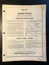 1954 Evinrude Fleetwin 7514 7515 7516 7517 Outboard Motor Parts Catalog Manual