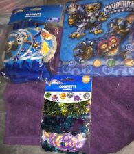 A Lot Of 3 Skylanders Birthday Partly Supplies Confetti - Napkins And Blowouts