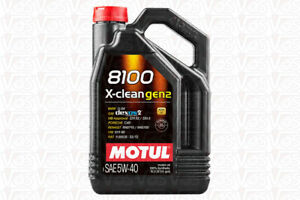 5 Litri Olio Motul 8100 X-Clean XClean GEN 2 5W40 VW 511.00 BMW LL-04 MB 229.52