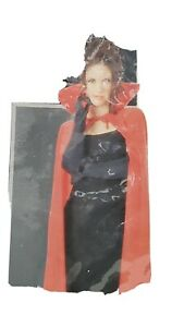 Red Full Length Cape Cloak Royal King Queen Vampire Long Halloween Costume