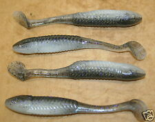 "5"" Swim Minnow Crystal Shad Swimbait Trailer for A Rig 50 pack bulk Plastic Worm"