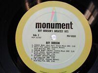 Roy Orbison LP, Roy Orbison's Greatest Hits, Monument MLP 8000, VG+ cover VG