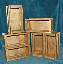 SMALL PAINTED GOLD WOOD CRATES/ GIFT BOXES! SHADOW BOX SHELVES STACKING