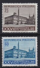 ITL134) Italy set of 2, 1954 25th Anniversary of the Lateran Pacts, MLH