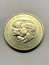 1981 Great Britain 25 New Pence Royal Wedding AU #13183