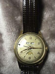 Vintage Triple Date MoonPhase 17 Jewels Automatic Watch With Felsa 693 Bidynator