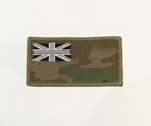 MTP Subdued Union Jack Zap & Blood Group Badge, Army, Military Patch, Hook Loop