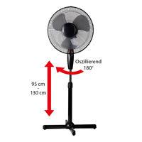 Standventilator Ø40cm Ventilator Windmaschine Klimagerät Luftkühler Rotation