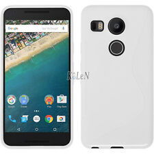 Rubber Gel TPU Silicone Case Skin S-Line Soft Cover For LG Google Nexus 5X 2015