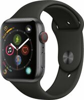 Apple Watch Series 4 GPS+LTE w/ 44MM Space Gray Aluminum Case & Black Sport Band