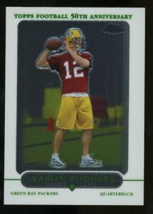 2005 Topps Chrome #190 Aaron Rodgers Green Bay Packers RC Rookie