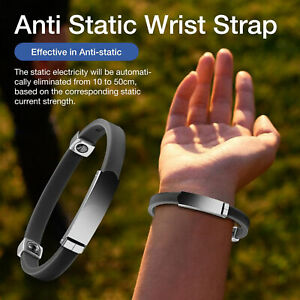 Portable Universal Adjustable Anti-Static Wristband Wrist Strap Bracelet Wide