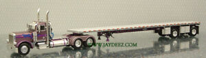 DCP31397 PURPLE PETE W/DUAL ROUND HEADLIGHTS & MORE W/FLATBED  FROM JAYDEEZ!