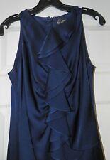 NWT St. John Evening 6  Navy Blue Crepe Dress NWT $995