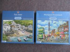 Gibsons 500 piece puzzles - 'Port Isaac' & 'Blackpool Promenade', used