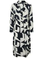 PRINTED MIDI DRESS VERO MODA Size M Navy And White