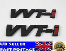 2x VVT-i Toyota Negro ABS adhesivo con el logotipo Emblema Insignia Avensis TS T2 Corolla Yaris