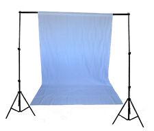 SET Hintergrundsystem Hintergrund weiß + 2 Klemmen + Ständer + Tasche Fotowand