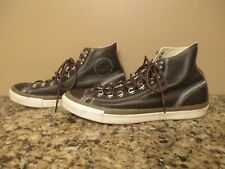 Brown Leather Converse All Star High Top Shoes - Men 11 - EUC