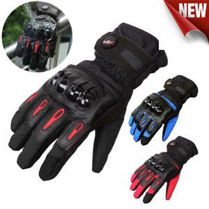 Motorcycle Gloves Waterproof Motorbike Bike Warm Thermal Winter Quality MTV08
