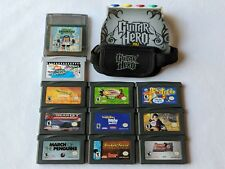 Lot of 12 Gameboy Advance Games Guitar Hero Harry Potter Shrek - Nintendo GBA SP