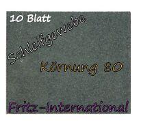 10 Blatt Schleifleinen Schleifgewebe Schmirgelleinen A4 280x230mm Körnung 80 K80