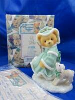 1999 Christmas Cherished Teddies Felicia Joy to the World #533890 Limited Ed MIB