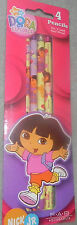 NEW NICK JR. DORA  THE EXPLORER PENCILS ( 1 PACK OF 4 PENCILS)