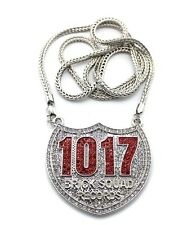 "ICED OUT 1017 BRICK SQUAD PENDANT 2 & 36"" FRANCO CHAIN"
