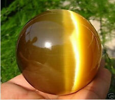 Hot Sell ASIAN QUARTZ TIGER EYE CRYSTAL HEALING BALL SPHERE 80MM + STAND-