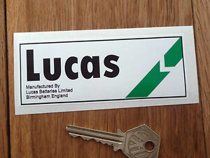 LUCAS Classic Car Battery STICKER Restoration #14 TR7 BL Princess Metro 6R4 Mini