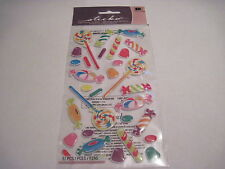 Scrapbooking Crafts Stickers EK Success Sticko Sweet Tooth Puffy Candy Suckers