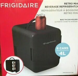 Frigidaire Retro Mini Beverage Refrigerator Beverages or Skincare NEW OPEN BOX