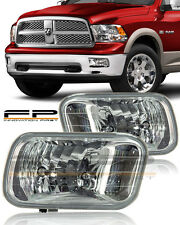 2009-2012 Dodge Ram 1500 Clear Lens Replacement Fog Light Housing Assembly Pair