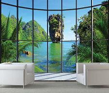 Dormitorio Papel Pintado Mural 232x315cm THAILANDIA - ISLA Vista - ventana