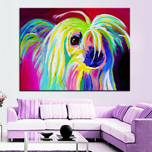 Chinese Crested Dog Print Unframed 60 x 76cm Large Size Canvas Modern Wall Art