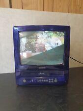 Daewoo GB14H2N BL 14 Inch CRT Colour TV VCR COMBI VHS Retro gaming Purple Clear