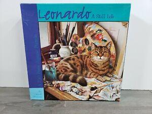 SEALED VTG 2000 CEACO PUZZLE LEONARDO A STILL LIFE CAT BY Geoff Tristram 750 Pc