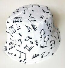 Music Note Score  bucket sun hat  festival outdoor holiday hats men woman