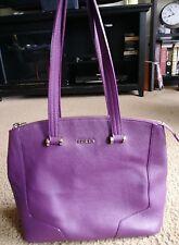 Authentic FURLA Purple medium Leather Tote/Bag/Purse/Satchel