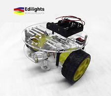 ROBOT CAR CHASSIS AUTO 2 RUOTE ROUND BODY KIT 2WD ARDUINO + MOTORI GEAR
